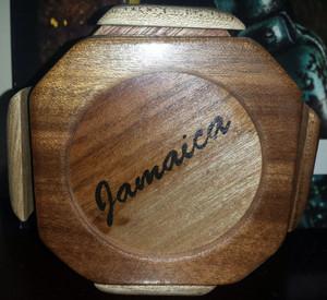 Wooden cork coaster set