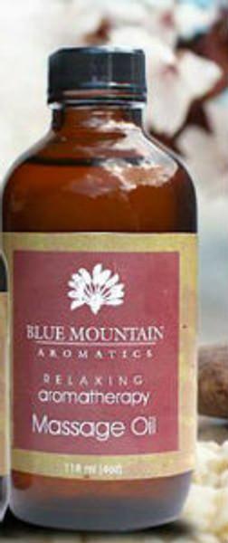 4 oz Blue Mountain Relaxing Massage oil