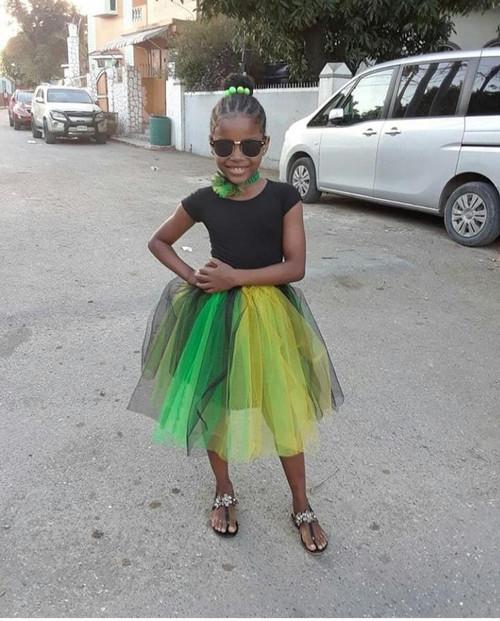 Jamaica color Tutu dress