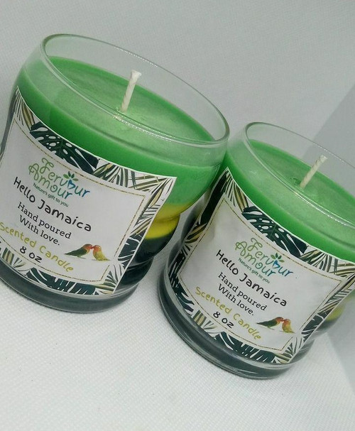 8oz  Hello Jamaica Scented Candle