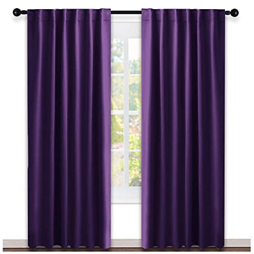 Back out curtains with grommets