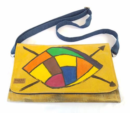 Hand painted shoulder bag