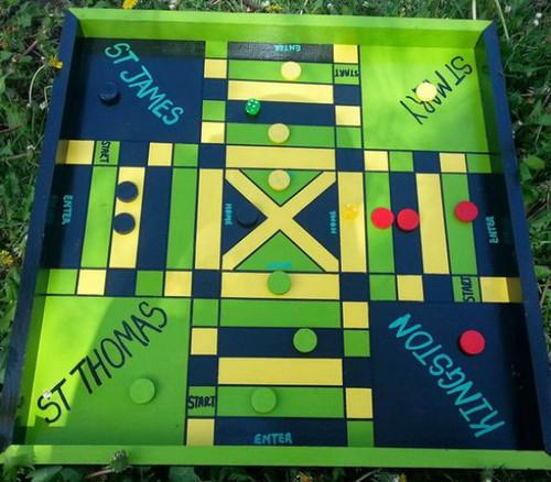 Jamaican Ludo Board + Checkers