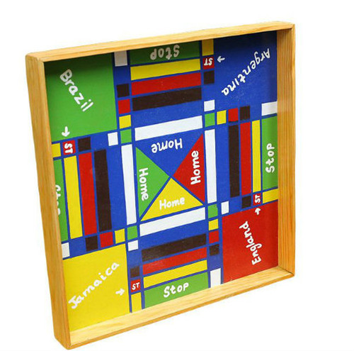 Jamaican Ludo Board + Checkers (Sml)