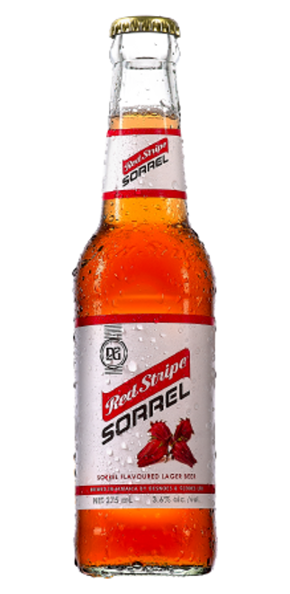 Red Stripe Sorrel set of 6 (bottle)
