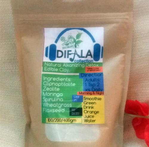 Difala Natural Alkalizing Detox Edible Clay Supplement