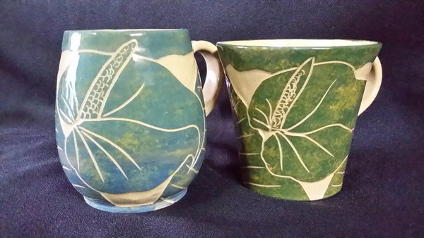 Carved Ceramic cups