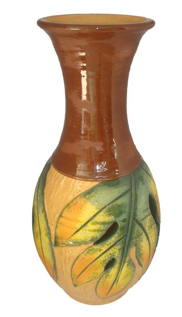 Lrg Cut Breadfruit Vase
