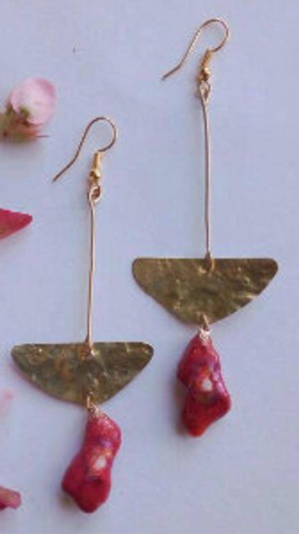 Eco friendly Earrings (red)