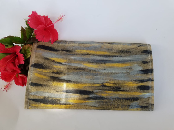 Hand painted purse Abstract