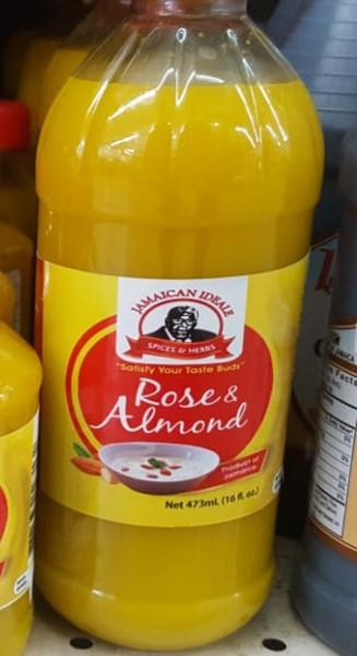 Rose & almond water 16oz