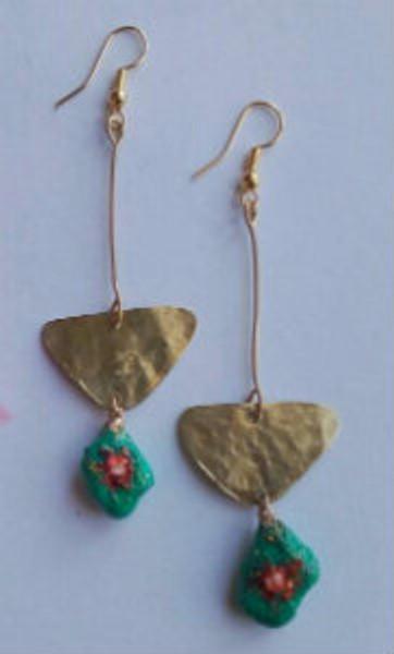 Eco friendly Earrings (blue)