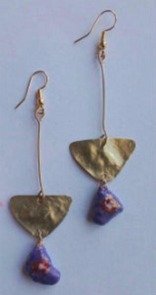 Eco friendly Earrings (purple)