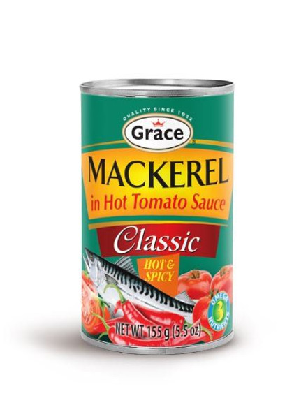 GRACE CLASSIC MACKEREL HOT & Spicy  155G set of 3