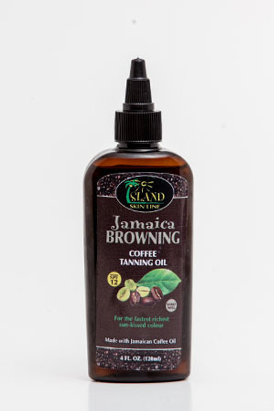 Jamaica Browning Coffee Tanning Oil – 4oz