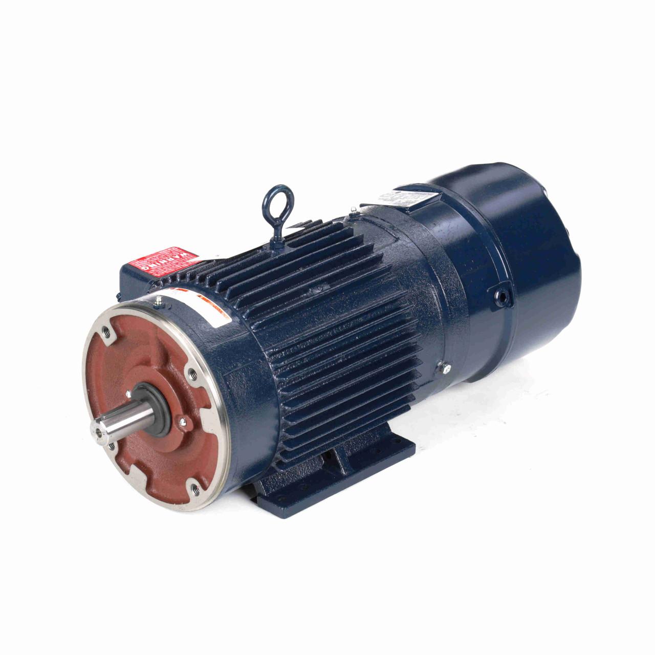 Y989 2000:1 Constant Torque Brakemotors 5 HP