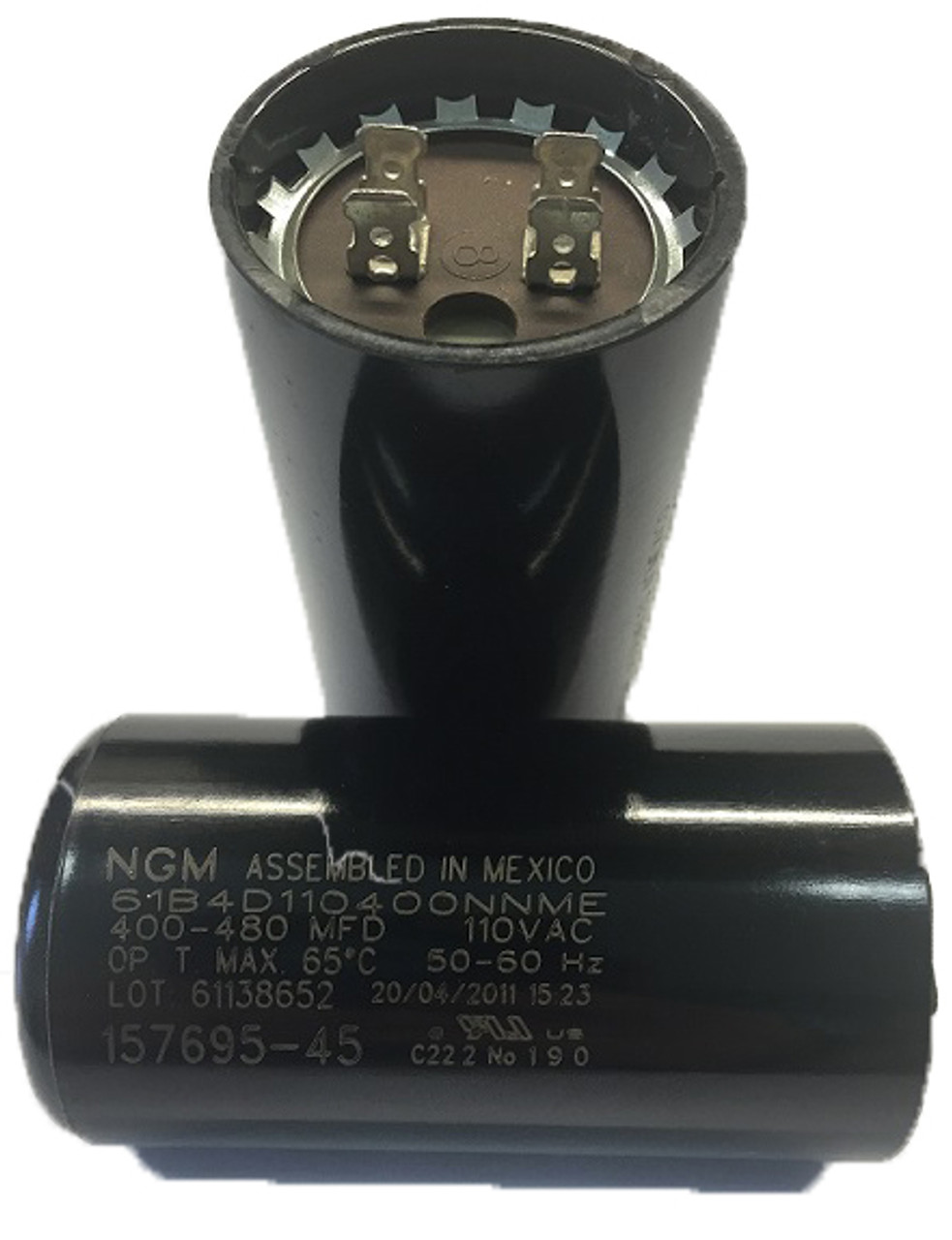157695-45 oem capacitor 400-480 mfd (15769545) - csh electric motor supply