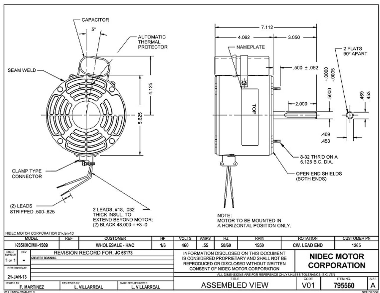 Emerson Wiring Diagram Electric Motor
