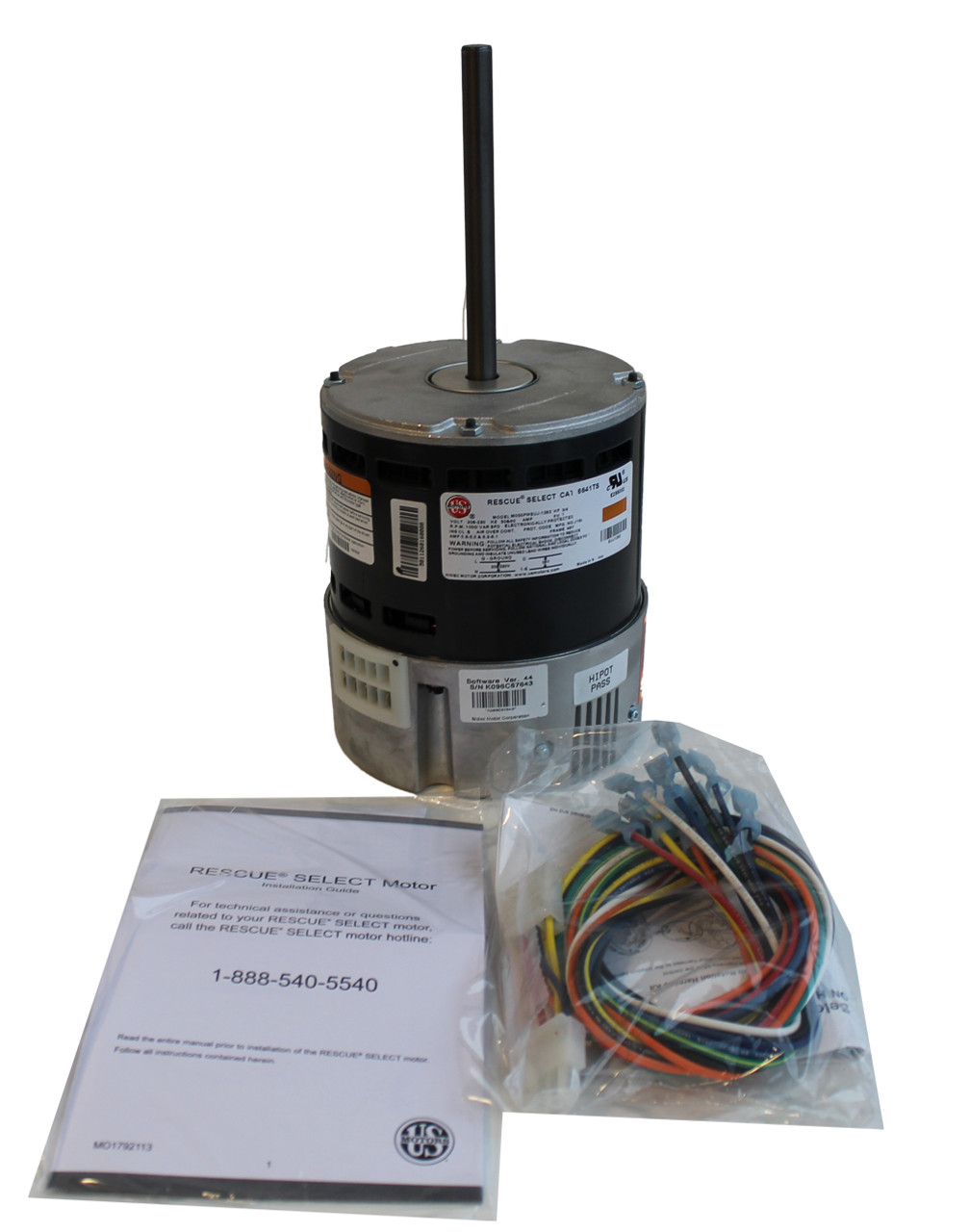 6641TS - Rescue Truck Stock Blower Motor, X-13 ECM, Variable Speed, 1050  RPM, 208-230 V, 6 3-6 1 Amps, 3/4 HP