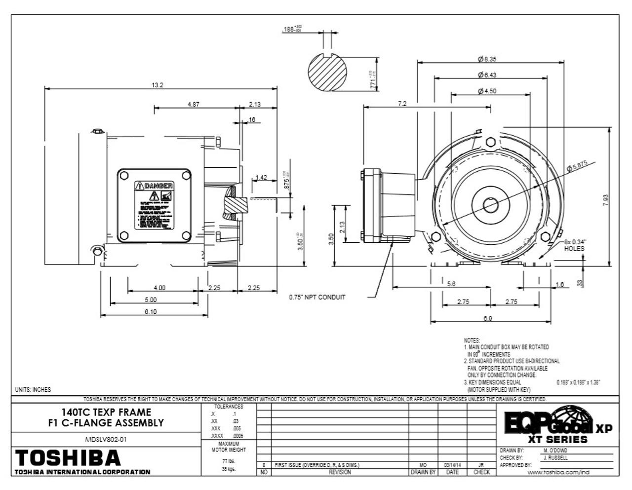 0024XPEA42A-P Toshiba Motor