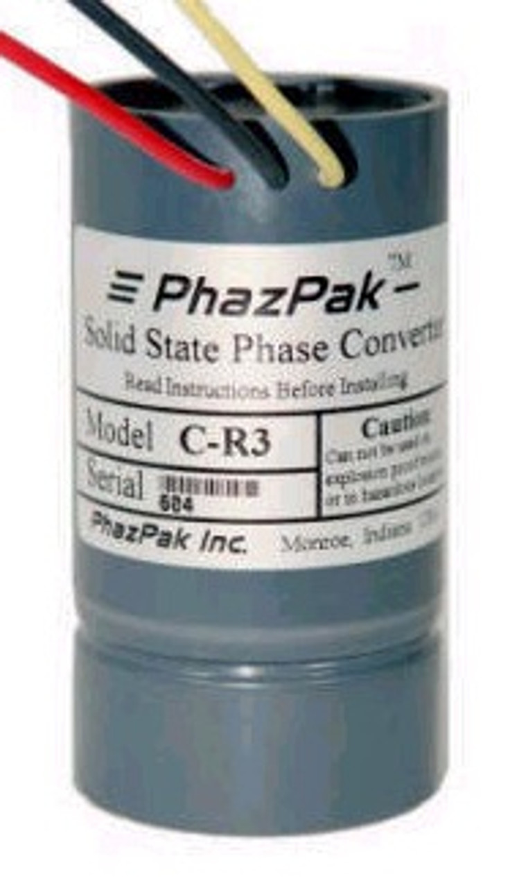 B-R3 1/3 to 1/2 h.p. high efficiency phase converter