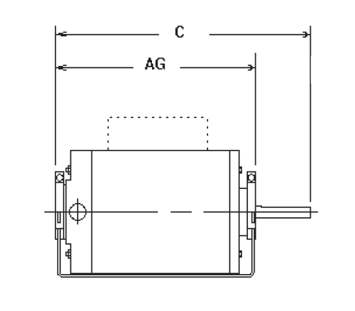 GK2054 Split Phase Resilient Base Motor 1/2 HP