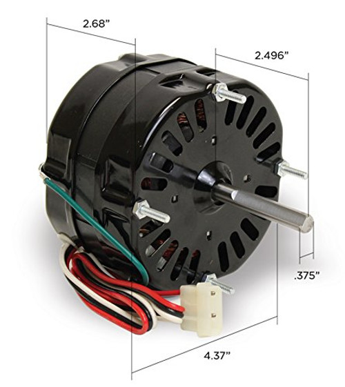 615054A Loren Cook Vent Fan Motor 1/16 hp 1550 RPM 2 Speed 115 Volts