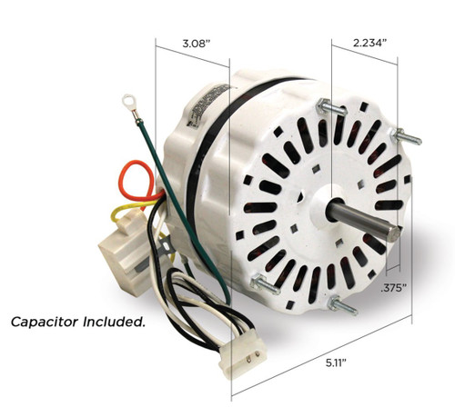 Loren Cook Vent Fan Motor 1/16 hp 1200 RPM 115 Volts # 615056A