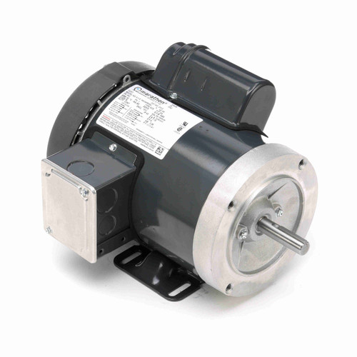 MD312 Single Phase Totally Enclosed C-Face Removable Base Motor 3/4 HP