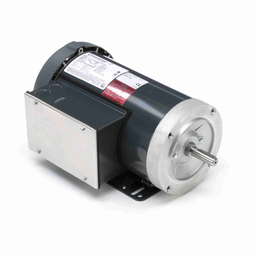MD316 Single Phase Totally Enclosed C-Face Removable Base Motor 3 HP
