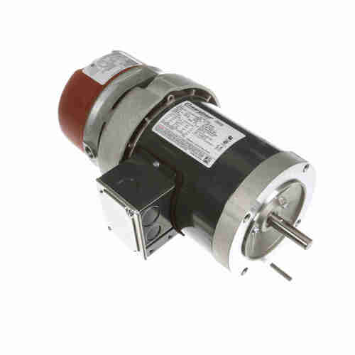 K465 1/3 hp 3 phase 1800 RPM 56C Frame 208-230/460V TEFC Marathon Electric Brake Motor