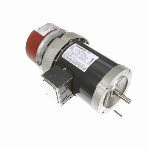 K467 1/2 hp 3 phase 1800 RPM 56C Frame 208-230/460V TEFC Marathon Electric Brake Motor