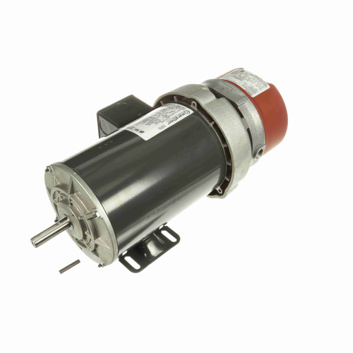 K438 1 hp 3 phase 1800 RPM 56C Frame 230/460V TEFC Marathon Electric Brake Motor