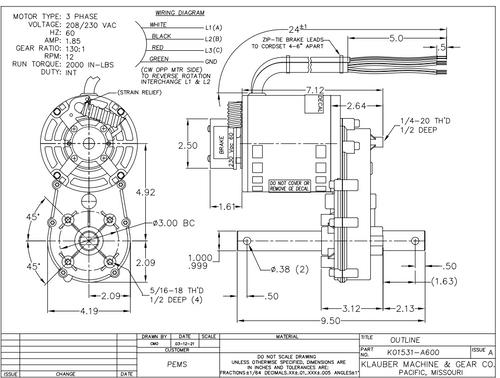 K01531A600  Power Gear Bleacher Slide Out Motor (K01151-S600, 652589-01 Interkal)