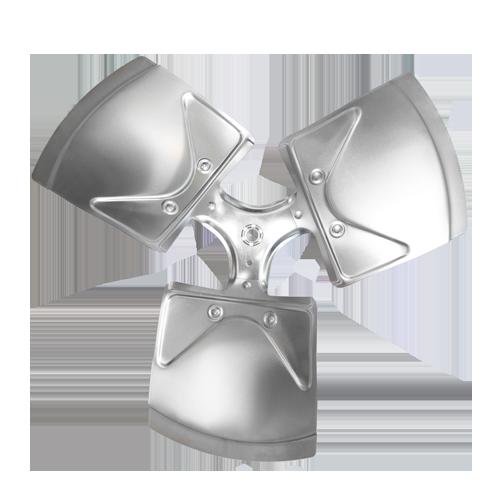 XW1803-35RA Revcor, (Carrier: LA01RA220A, LA01EC018A) 18 inch, three wing, 35 degree, 1/2 Hub, CW, Axial Fan Blade