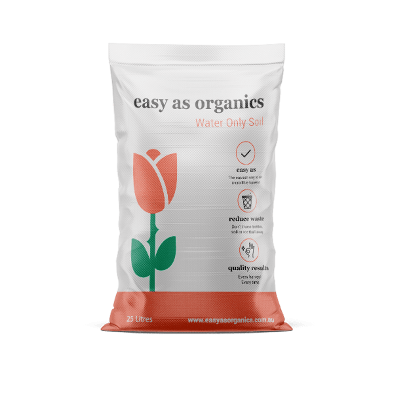 EASY AS ORGANICS WATER ONLY SOIL 25 LITRE