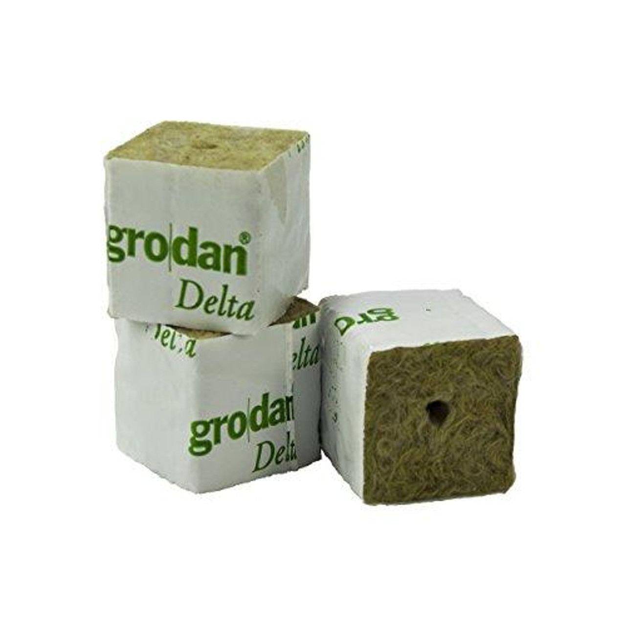 GRODAN 75MM X 75MM WRAPPED CUBE NO HOLE
