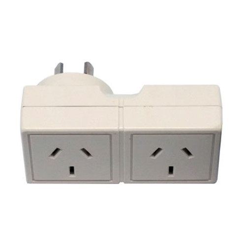 DOUBLE ADAPTER SQUARE PLUG INTO RIGHT