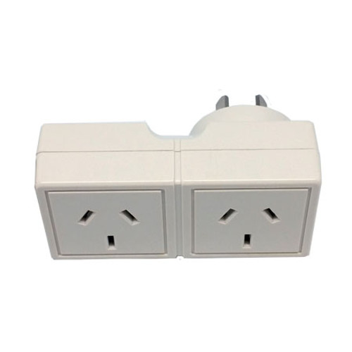 DOUBLE ADAPTER SQUARE PLUG INTO LEFT