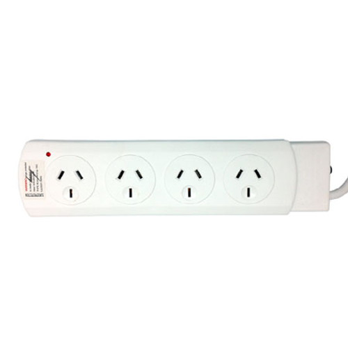 POWER BOARD FOUR OUTLET WITH OVERLOAD CUT-OUT BUTTON
