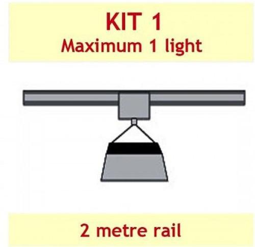 JUPITER 2 LIGHT 2 MTR RAIL INC CROSS BAR FOR 1 LAMP - KIT- 1 (WITH DELAY)