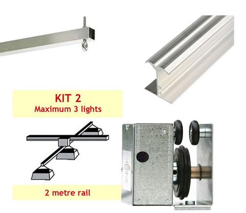 JUPITER 2 LIGHT 2 MTR RAIL FOR 1-3 LAMPS ON X BAR - KIT- 2 (DELAY)