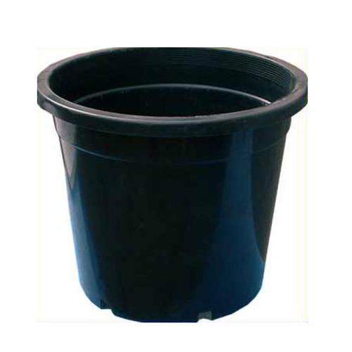 150MM STANDARD BLACK POT WITH HOLE 1.8 LITRE