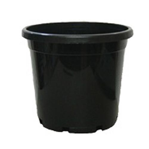 250MM STANDARD BLACK POT WITH HOLE NINE LITRE