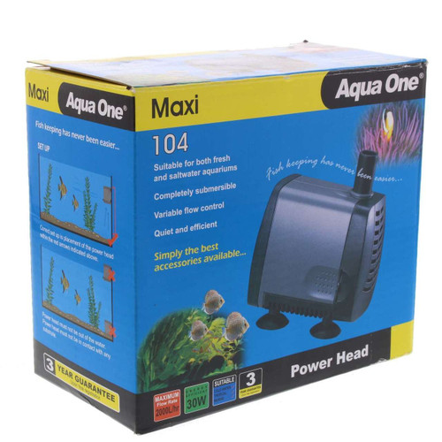 AQUA-ONE 104 POWER HEAD 2000 LH-2.0 METRE HEAD