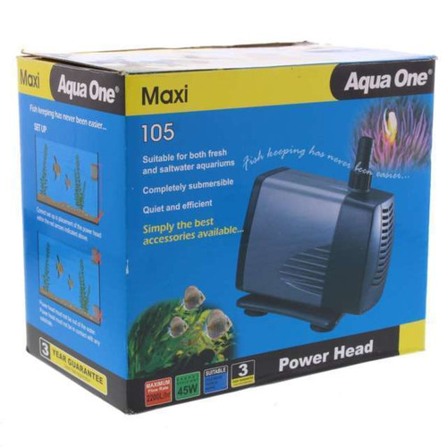 AQUA-ONE 105 POWER HEAD 2500 L/H-2.5 METRE HEAD