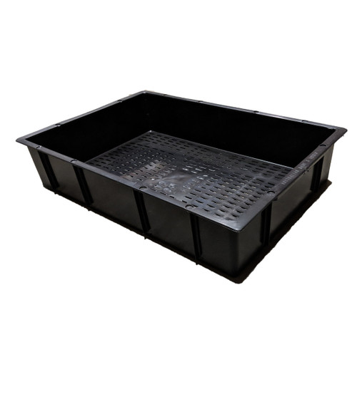 CROP-BOX BLACK 23 LITRE GRATED BASE