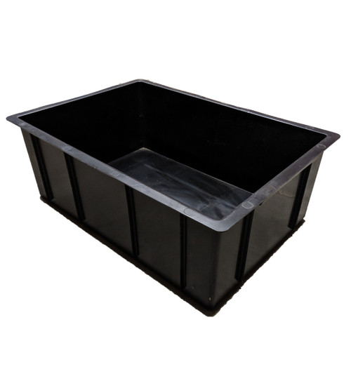 CROP-BOX BLACK 45 LITRE SOLID BASE