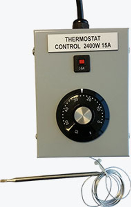THERMOSTAT - TEMPERATURE 0 TO 50 DEG CONTROLLER 2400W 15 AMP