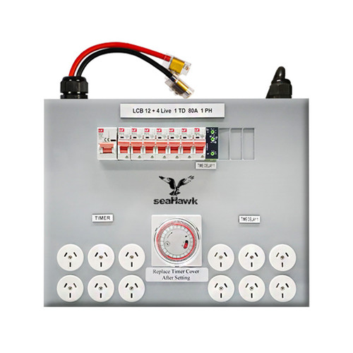 12 OUTLET LIGHT CONTROL BOARD - TIME DELAY - 12000 WATT 80 AMP MAX